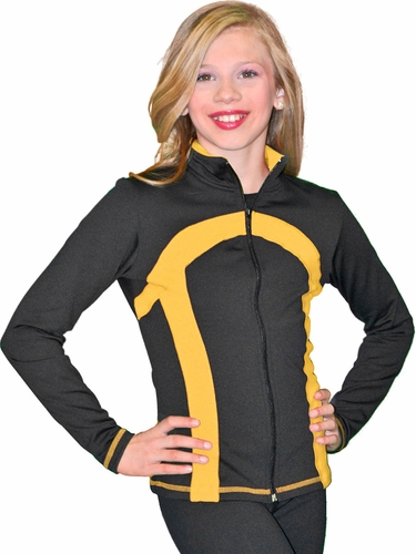 ChloeNoel Black/Gold Stripe Princess Seam Jacket
