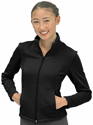 ChloeNoel Black Polartec Fleece Jacket w/ Pockets