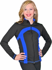 ChloeNoel Black/Royal Stripe Princess Seam Jacket
