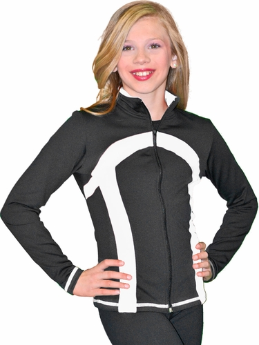 ChloeNoel Black/White Stripe Princess Seam Jacket
