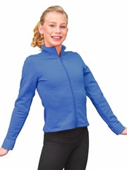 ChloeNoel Blue Polar Fleece Fitted Jacket