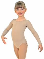 ChloeNoel BL02 Bodywear Nude Long Sleeve Leotard