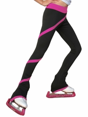 ChloeNoel Fuchsia Polar Fleece Spiral Pants by Polartec