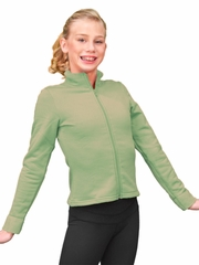 ChloeNoel Grass Polar Fleece Fitted Jacket