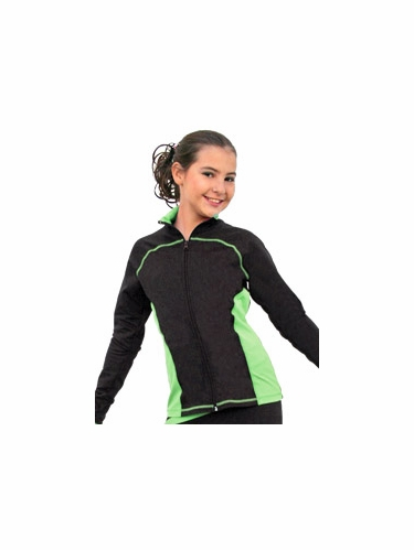 ChloeNoel Light Green Princess Seam Jacket w/ Swarovski Crystals