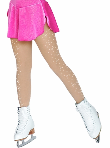 ChloeNoel Light Tan Footed Tights w/  Crystals