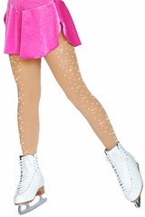 ChloeNoel Medium Tan Footed Tights w/ Crystals on Both Legs