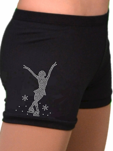ChloeNoel Mini Jump Skater Crystal Skating Shorts