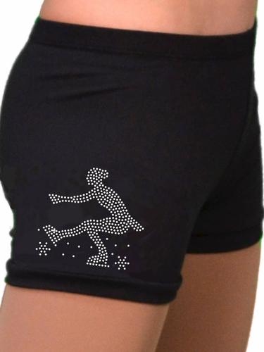 ChloeNoel Mini Sit Spin Crystal Skating Shorts