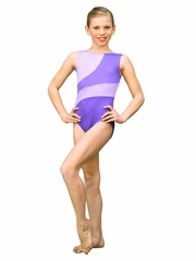 ChloeNoel Purple 2 Tone Leotard w/ Crystals