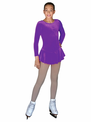 ChloeNoel Purple Long Sleeve Velvet Practice Dress