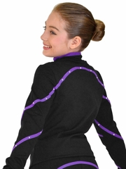 ChloeNoel Purple Polar Fleece Jacket w/ Swarovski Crystals