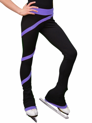 ChloeNoel Purple Spiral Pants w/ Crystals