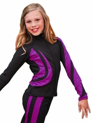 ChloeNoel Purple Swirls Jacket w/ Swarovski Crystals