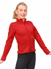 ChloeNoel Red Polar Fleece Fitted Jacket