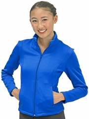 ChloeNoel Royal Blue Textured Polar Fleece Jacket w/ Pockets