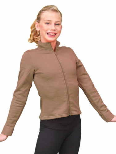 ChloeNoel Sepia Polar Fleece Fitted Jacket