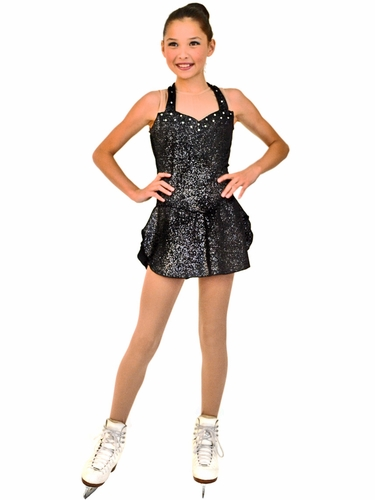 ChloeNoel Sleeveless Black Sparkle Dress