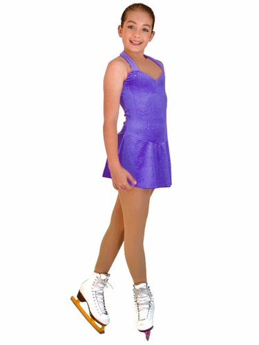 ChloeNoel Sleeveless Purple Sparkle Dress
