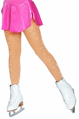 ChloeNoel Tan Footed Tights w/  Crystals