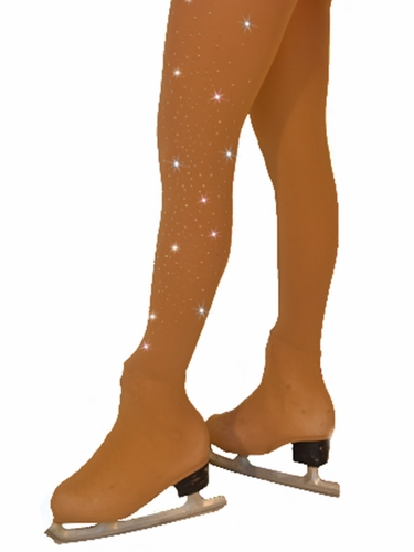 ChloeNoel Tan Over Boot Tights w/ Crystals