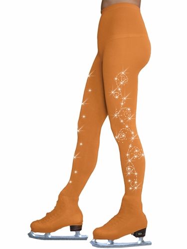 ChloeNoel TB8832-2Swirls Tan Over The Boot w/ Swirls On 2 Thighs