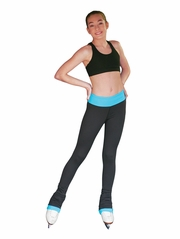 "ChloeNoel Turquoise Elite 3""� Waist Band Pant w/ Color Cuffs & Front Pocket"