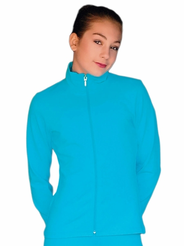 ChloeNoel Turquoise Fleece Jacket w/ Thumb Holes &  Custom Crystal Design