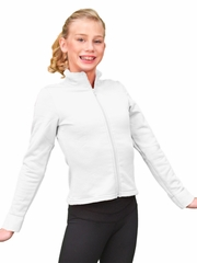 ChloeNoel White Polar Fleece Fitted Jacket