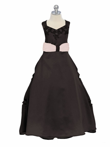 Chocolate Sweet Beginnings Satin Gown
