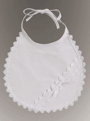 Christening Cotton Laced Bib