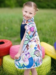 Colour A Cape Mermaid Reversible Set w/ Markers
