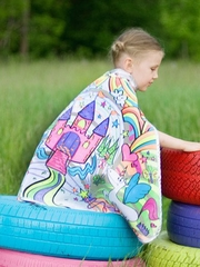 Colour A Cape Princess Reversible Set w/ Markers