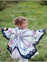 Colour A Costume - Butterfly Fairy Wings Cape w/ Markers Set