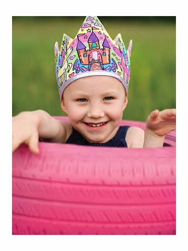 Colour A Crown Princess Reversible Crown & Marker Set