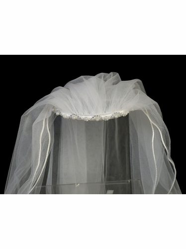 Communion Headband w/ Pearl & Rhinestone Accents