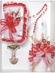 Confirmation Red Candle Gift Set