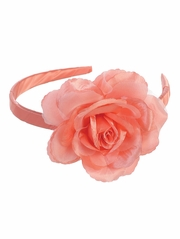 Coral Headband w/ Large Rose