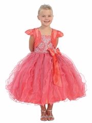 Coral Pageant Dress