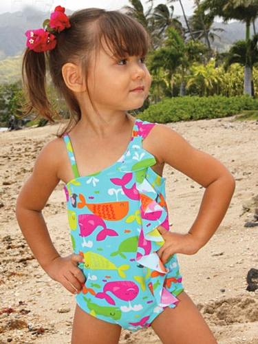 Coral & Reef Whale Parade Angel One Piece Swimsuit