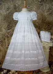 CLEARANCE - Cotton Batiste Gown W/Cluny Lace