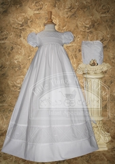 Cotton Gown W/Diamond Stitch