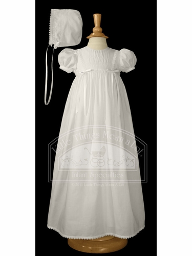 Cotton Gown W/Embroidered Flower