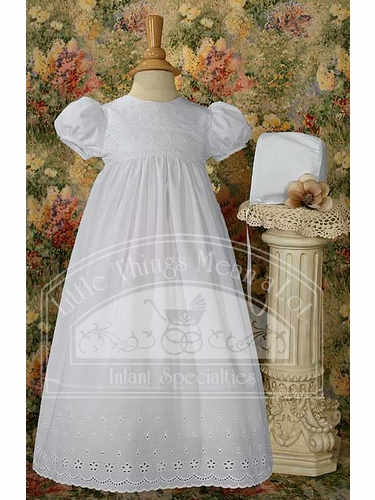 PolyCotton Gown W/Lace