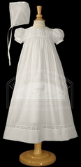 Cotton Gown with Flower Lace