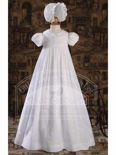 Cotton Heirloom Gown with Hand Embriodery