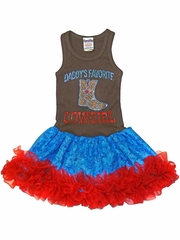 Daddy�s Favorite Cowgirl Tutu Dress