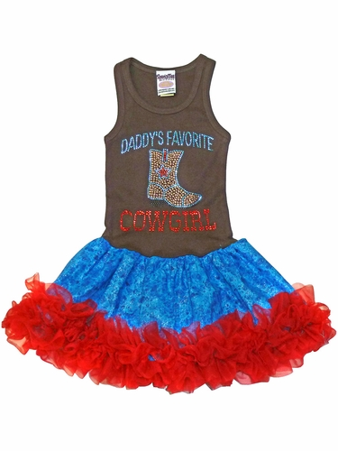Daddy's Favorite Cowgirl Tutu Dress