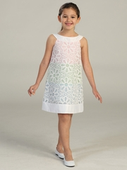 Daisy Multi Pastel Colored Eyelet Dress