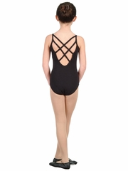 Danshūz Black Cami Leotard w/ Cross Straps
